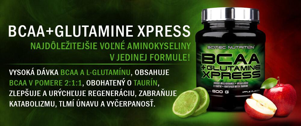 BCAA + Glutamine Xpress, 600 g od Scitec Nutrition - Najdôležitejšie voľné aminokyseliny v jedinej formule