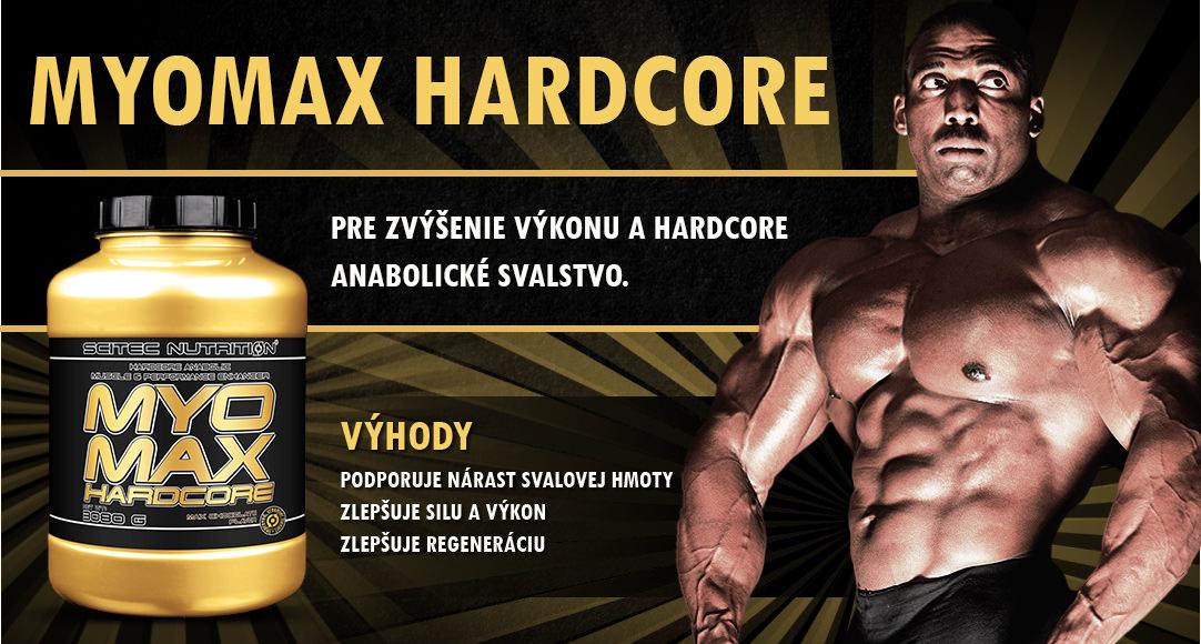 MyoMax Hardcore, 1400 g od Scitec Nutrition - Pre zvýšenie výkonu a hardcore anabolické svalstvo